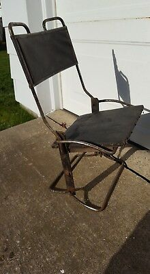 Antique Calvin Buffington Folding Chair 1910?? ford chevy  industrial vintage