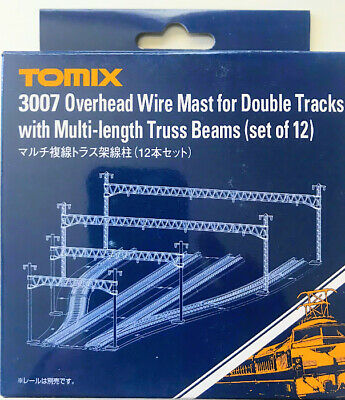 Tomix N 3007 Overhead Wire Mast for Double Tracks with Multi Length Truss Beams