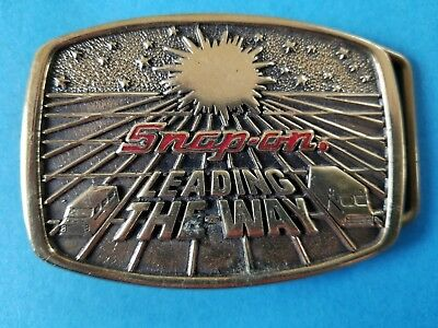 Vintage 1988 Snap-On Leading the Way Belt Buckle BTS SSX-1232 Ltd Ed L2 Brass