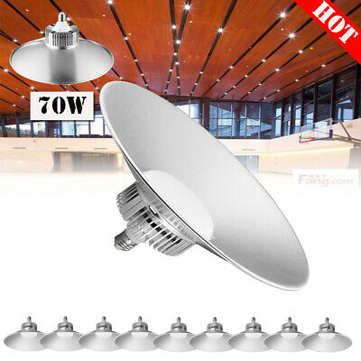 10 x 70W LED High Bay Light Cool White GYM Warehouse Factory Workshop Lamps