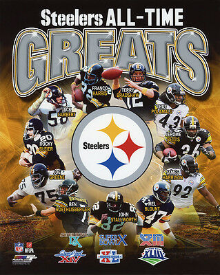 0bfbe48983f PITTSBURGH STEELERS All-Time Greats Glossy 8x10 Photo Print NFL Football  Poster