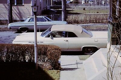 Classic Car Parked In Street Vintage 1960's 35mm Slide B17
