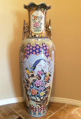 "Rare Extra Large 62"" Monumental Chinese Porcelain Vase Antique Very Beautiful"