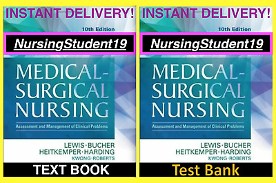 PDF🔥TEXT BOOK+TEST BANK!🔥Lewis Medical-Surgical Nursing 10th Edition 9th⚡️FAST