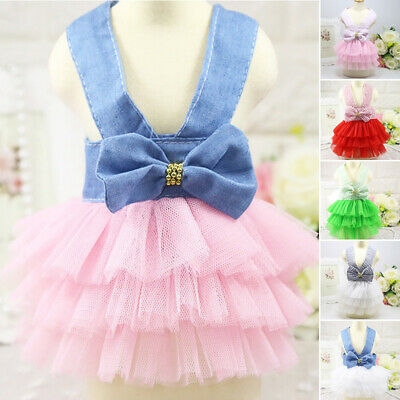 Lace Dog Apparel Dress Puppy Casual Party Birthday Princess Accessory Summer