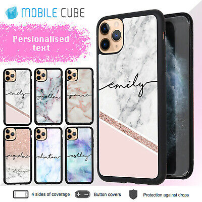 iPhone X XS Max XR 8 7 6 6S Plus 5 MarbleIII Shockproof Case Personalised Name