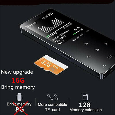 16GB Walkman bluetooth HIFI MP3 MP4 Player Lossless Recording Pen Touch