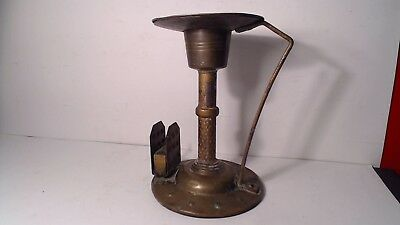 Antique c.1900 Iron Candlestick by Hugo Berger, Goberg,  RARE