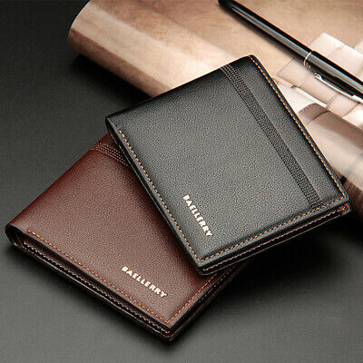 Men's Gent Business Leather Wallet Pocket Card Holder Clutch Bifold Slim Purse
