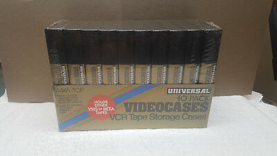 UNIVERSAL VCR VHS TAPE STORAGE CASES / 10 Pack  / BRAND NEW ~ FACTORY SEALED !!