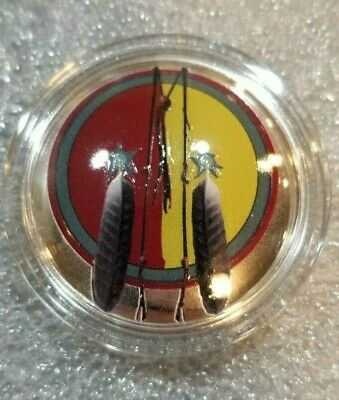 2018 Domed Native American Weapons Series Comanche Spear Silver Proof Coin