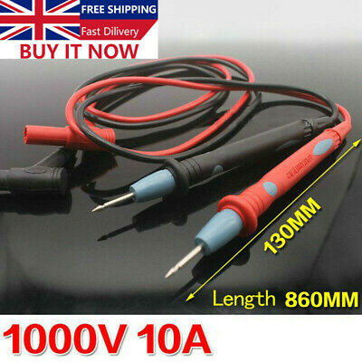 High Quality Safe Digital Multimeter Universal Probe Test Leads 1000V 10A UK