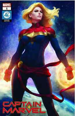 Captain Marvel 1 2019 Stanley Artgerm Lau Exclusive Trade Variant Nm
