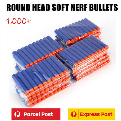 Round Head Soft Bullets For NERF EVA N-Strike Elite Refill Toy Gun Darts Blaster
