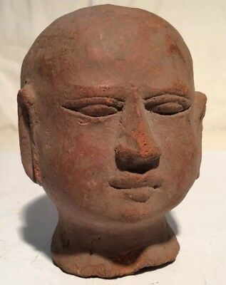 """Ethnographic,Ancient Chinese Terra-Cotta Head Possibly 2000 Years Old 4 x 3"""""""