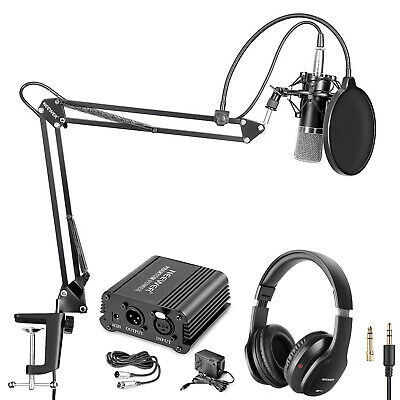 NW-700 Condenser Microphone with Monitor Headphones & Phantom Power Supply Kit