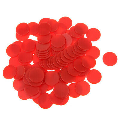 100x Opaque Plastic Board Game Counters Tiddly winks Numeracy Teaching Red