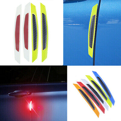 Yellow Reflective Carbon Fiber Auto Car Side Door Edge Protector Guard Sticker