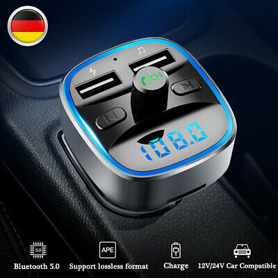Bluetooth FM Transmitter Auto MP3 Player USB Stick KFZ AUX Freisprechanlage Neu