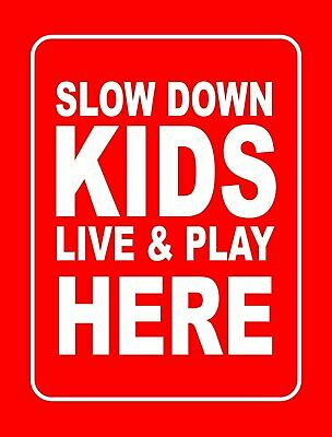 Accelerated Intelligence Inc. Slow Down Kids Live & Play Here Yard Sign |...