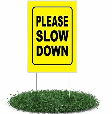 Please Slow Down Yellow - Single Pack Yard Sign
