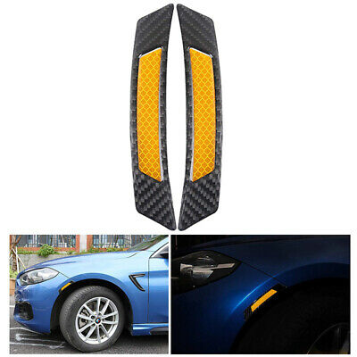 2x Orange Super Car Door Sticker Reflective Tape Safety Warning Decal Universal