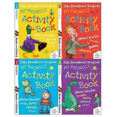 Read With Oxford My Phonics Activity Books (Stage 1-4) 4 Book Collection Julia D