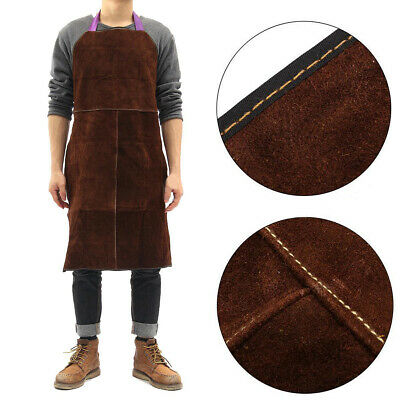Cow Leather Welder Welding Protective Gear Apron Work Safety Workwear Blacksmith