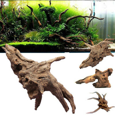 Wood Natural Trunk Driftwood Tree Aquarium Fish Tank Plant Decoration Ornament_H