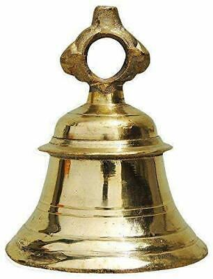 Solid Brass Temple Ganta Hanging Ship Bell Brass Pooja Bell Freeshipping