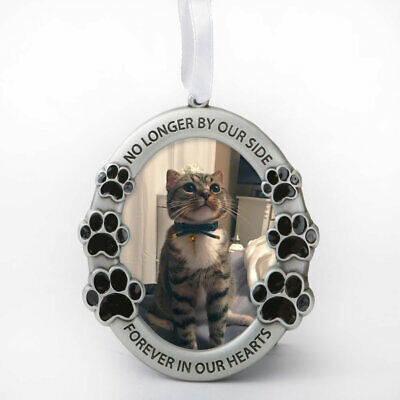 Pet Memorial Ornament - No Longer by Our Side, Forever in Hearts- Picture Frame