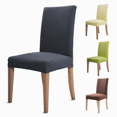 2/4/6/8Pcs Stretch Dining Chair Cover Removable Slipcover Washable Banquet Event