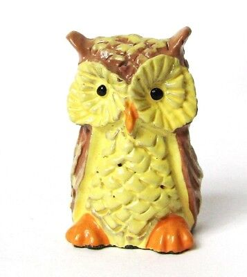 Hand Painted Owl Pewter Thimble By Enesco