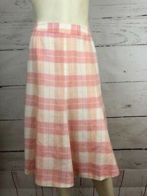 9f322f843 NWT Brooks Brothers Country Club Women's Sz 8 100% Linen A-Line Skirt $128