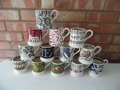 Emma Bridgewater Large Collection of ½ Pint Mugs 12 Different Designs - New