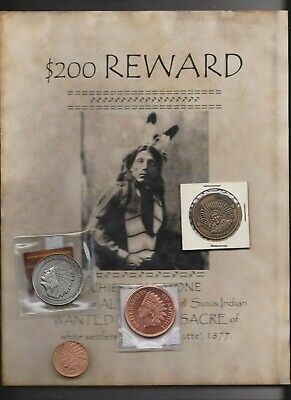American Indian  Medal Lot And Wanted Poster` Read    L@@K