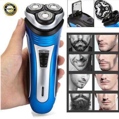 Men's Electric Shaver 3D Triple Floating Head Rotary Rechargeable Trimmer Razor