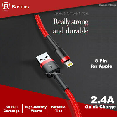 MFI Certified Baseus Fast Charging Lightning Data Sync Cable Apple iPhone iPad