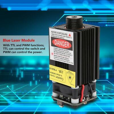 2.3W 445nm Focusable Blue Laser Module TTL PWM+Power Adapter for US Plug