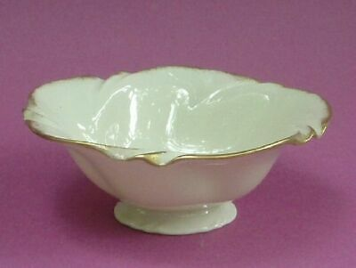 Lenox China DORSET Cream Footed Candy Dish 24K Gold Trim
