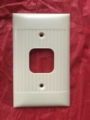 Vintage Ivory Art Deco Sierra Bakelite Square Hole Switch plate Cover