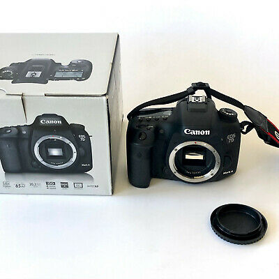 Canon EOS 7D Mark II 20.2MP Digital SLR Camera - Black (Body Only) w/ box