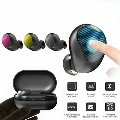Touch Control Bluetooth 5.0 Headsets Earbuds Wireless Headphones HiFi Waterproof