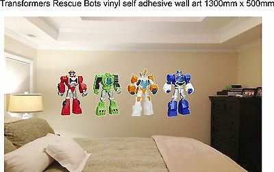 Transformers Rescue Bots vinyl self adhesive vinyl 1300mm x 500mm overall size