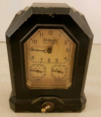 Antique Working 1920's HOTPOINT Wind-Up Automatic Range Timer Clock LUX Clock Co