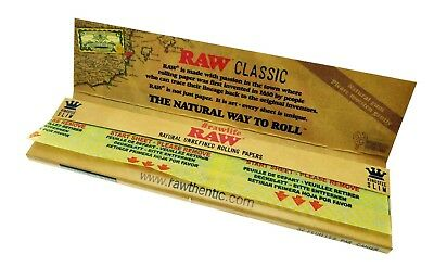 Raw Classic King Size Slim Natural Unrefined Rolling Papers See Discounts! USA