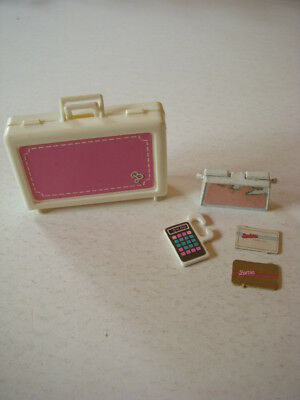 Vintage Barbie Accessories, Day To Night Fashion Set, Case, Calculator, Purse ++