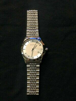7be70db5f22 Gucci Mens Watch G-Timeless Silver Dial Stainless Steel Bracelet YA126401