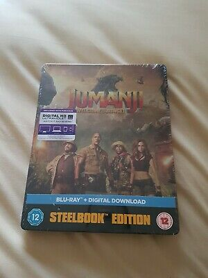 Jumanji: Welcome To The Jungle (Steelbook) BLU RAY *NEW & SEALED*