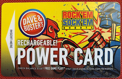 Dave And Busters Power Card w/ 10,000 Tickets ~ D & B Prize Points Winner Circle